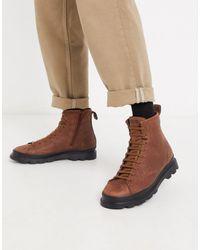Camper Коричневые Ботинки На Шнуровке -светло-коричневый