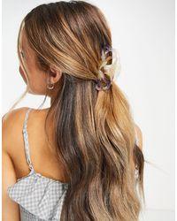 Pieces Ombre Hair Shark Clip - Brown