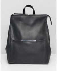 ASOS - Minimal Backpack With Bar Detail - Lyst