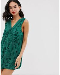 66ed87c256f26 Free People - Sweetist Shifty Embroidered Shift Dress - Lyst