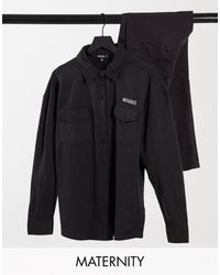 Missguided Embroidered Shirt - Black