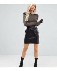 ASOS   Textured Tulip Mini Skirt In Leather Look   Lyst