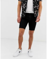 ASOS Short en jean stretch hyper moulant - Noir