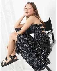 ASOS Cami Mini Sundress Dress With Raw Edges - Black