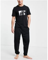 Calvin Klein Pijama negro CK One