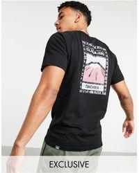 The North Face Черная/розовая Футболка Faces Эксклюзивно На Asos-черный Цвет