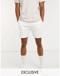 Jack & Jones Premium - Short Met Textuur - Wit