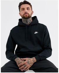 Nike – Kapuzenpullover mit Logo - Schwarz