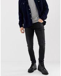 Nudie Jeans Tight Terry - Jeans super skinny lavaggio nero authentic