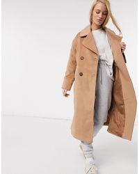 Y.A.S Manteau long en laine avec boutons façon écaille - Multicolore