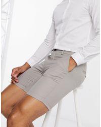 Jack & Jones Pantalones cortos color en marrón topo - Gris