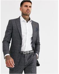 Burton - Giacca da abito skinny a quadri rosso - Lyst