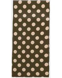 Aspesi Scarves & Silk Scarves - Silk Crepe De Chine Scarf Olive 100% Silk One Size - Multicolour