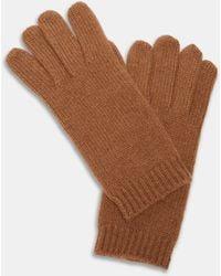 Aspesi Hats & Gloves - Cashmere Gloves Camel 100% Cashmere S - Brown