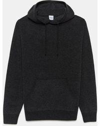 Aspesi Knitwear & Sweats - Hoodie In Super-fine Geelong Merino Wool Dark Gray 100% Wool 46 - Black
