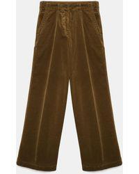 Aspesi Trousers - Cotton Corduroy Trousers Olive 100% Cotton 40 - Multicolour