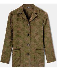 "Aspesi Jackets - Cotton-nylon ""work"" Shirt-jacket Military 54% Cotton 46% Polyamide 36 - Green"