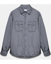 Aspesi Shirts - Mod. 13 Più Shirt Grey 100% Nylon Xs