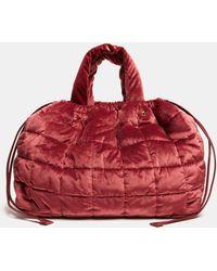 Aspesi Quilted Velvet Bag - Red