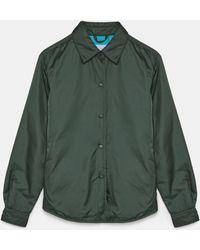 Aspesi Blusen & Tops - Zweifarbige Glue Hemdjacke ZWEIFARBIG 100% Nylon XS - Grün