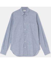 Aspesi Hemden - Klassische Chambray-Bluse aus Baumwolle CHAMBRAY 100% Baumwolle S - Blau