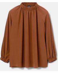 Aspesi Blusa de seda crepé - Multicolor