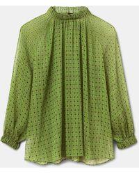 Aspesi Blusa de chifón de seda - Verde