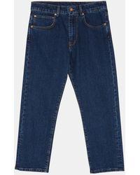 Aspesi Trousers - Rinsed Denim Jeans Medium Denim 98% Cotton 2% Elastane 28 - Blue