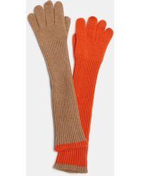 Aspesi Hats & Gloves - Cashmere Gloves Camel/orange 100% Cashmere S