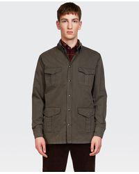 Aspesi Military-coloured Gabardine Shirt - Green