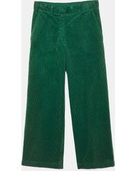 Aspesi Pantalone In Velluto Di Cotone A Coste - Verde