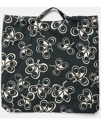 Aspesi Bag In Printed Poplin - Green