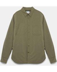 Aspesi Shirts - Alvaro Wool Shirt Green 70% Polyester 30% Polyamide Xs