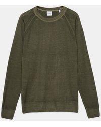 Aspesi Jersey de cuello redondo de punto de lana virgen - Verde