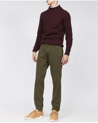 Aspesi - Garment Dyed Cotton Trouser Funzionale - Lyst