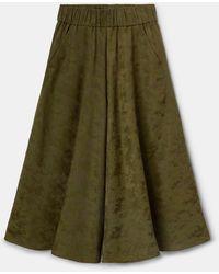 Aspesi Gonna pantalone in misto cotone - Verde