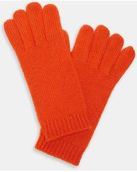 Aspesi Hats & Gloves - Cashmere Gloves Orange 100% Cashmere S