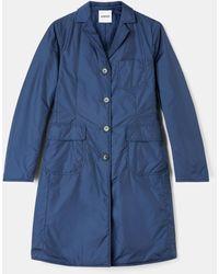 Aspesi Coats & Raincoats - Polyamide Taffeta Overcoat Blue 100% Nylon Xs