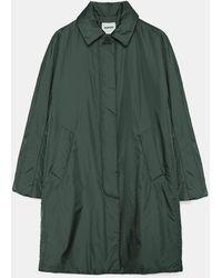 Aspesi Coats & Raincoats - Cotoletta Overcoat British Racing Green 100% Nylon Xxs