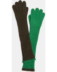 Aspesi Hats & Gloves - Cashmere Gloves Green/khaki Green 100% Cashmere S