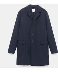 Aspesi New Gene Coat Winter Mantel - Blau