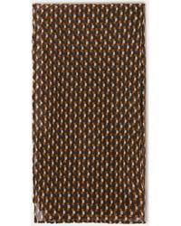 Aspesi Scarves & Silk Scarves - Printed Chiffon Foulard Micro-square Camouflage 100% Silk One Size - Multicolour
