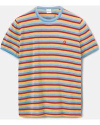 Aspesi Strick-t-shirt aus baumwolle-seide-leinen-mischung - Mehrfarbig
