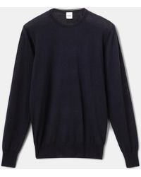Aspesi Suéter de punto de lana pura de merino - Azul