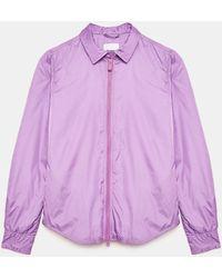 Aspesi - Camisas y Tops - Chaqueta/Camisa Tomino LILA 100% nylon XS - Lyst