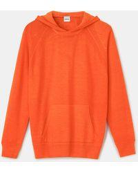 Aspesi Sudadera con capucha de punto de lana virgen - Naranja