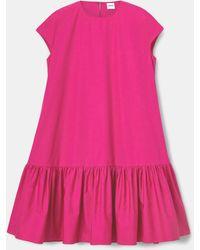 Aspesi - Dresses - Cotton Poplin Dress Fuchsia 100% Cotton 36 - Lyst
