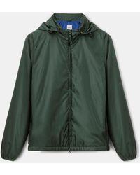 Aspesi Oberbekleidung - Jacke aus leichtem Nylon ZWEIFARBIG 100% Nylon M - Grün