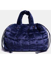 Aspesi Bags & Backpacks - Quilted Velvet Bag Navy 83% Cotton 17% Modal One Size - Blue