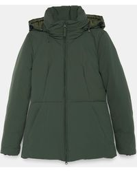 Aspesi Outerwear - Pan De Mej Jacket Green 100% Polyamide And Polyurethane Coating L